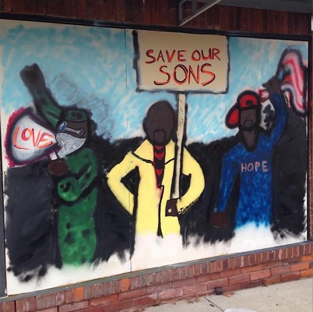 A mural in Ferguson  (Image via paintforpeacestl/Instagram)