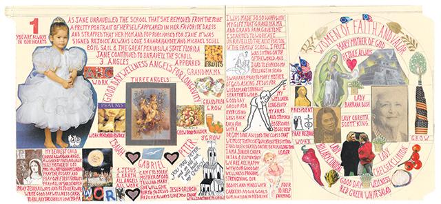 "Milton Schwartz, ""Untitled,"" n.d., Collage, Sharpie marker, and pencil on cut manilla folder, 8 x 18.25 in"