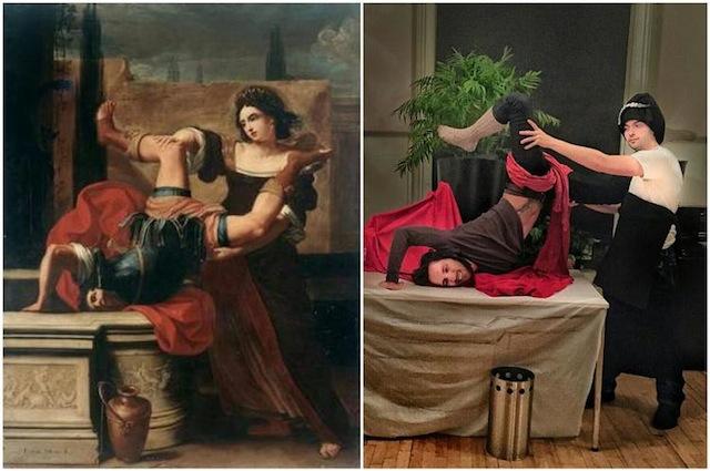 """Elisabetta Sirani, """"Timoclea uccide il capitano di Alessandro Magno""""  (1659)"""