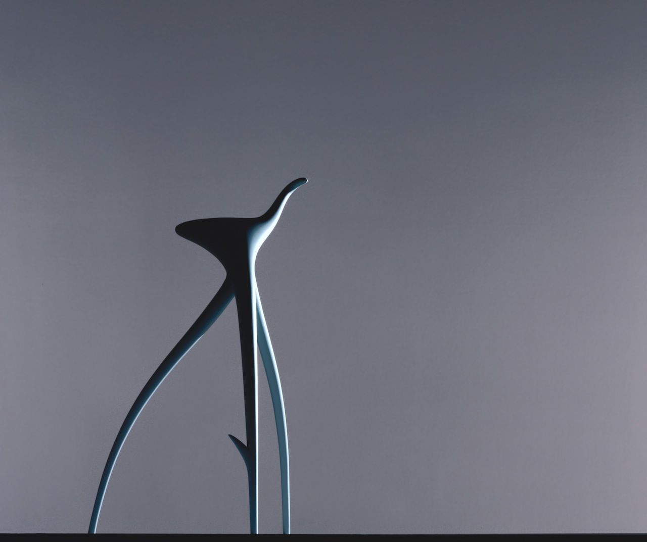 : W. W. Stool, Designed 1990 by Philippe Starck, French, born 1949,  Lacquered aluminum, 38 3/16 x 22 x 20 13/16 inches (97 x 55.9 x 52.8 cm), Philadelphia Museum of Art, Gift of Vitra International AG, 1997, © Vitra (www.vitra.com)