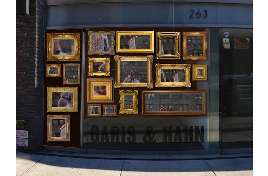 "Eric Corriel's ""Salon Video"" at Garis & Hahn (image courtesy garisandhahn.com)"