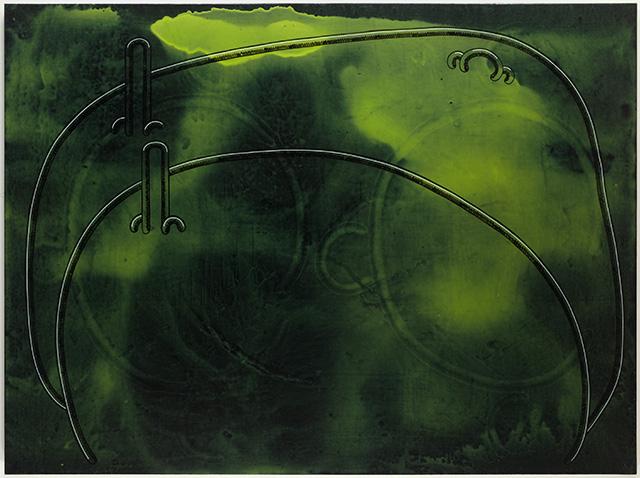 "John Wilkins, ""Waiting,"" (2013), Acrylic on canvas, 72 x 96 in"