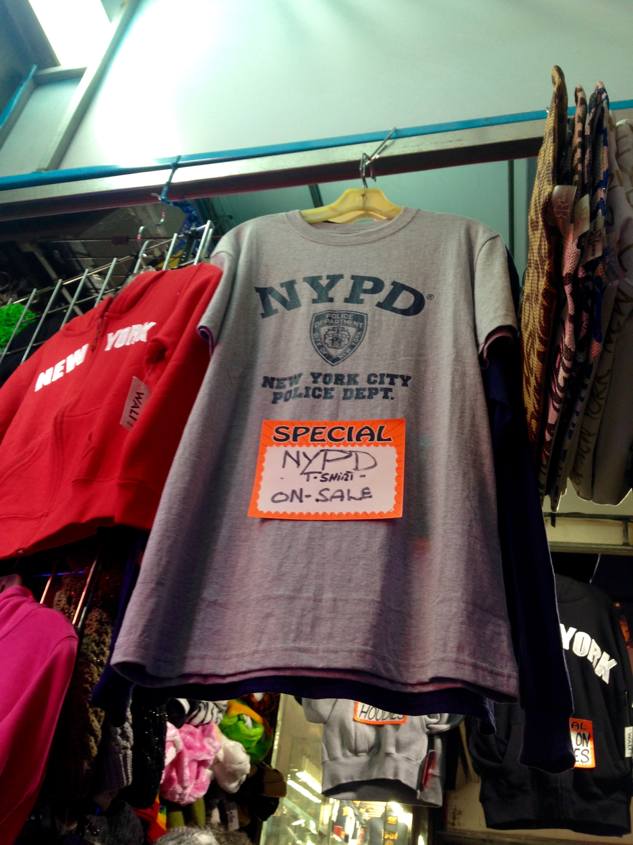 NYPD shirt for sale in Times Square