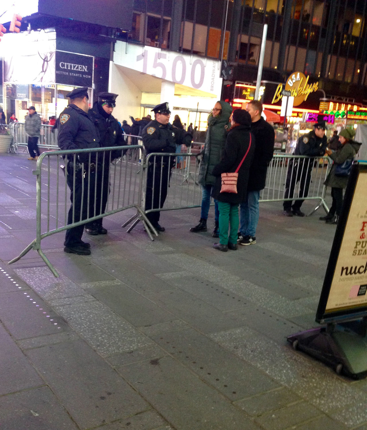 Staging A Performance With The NYPD
