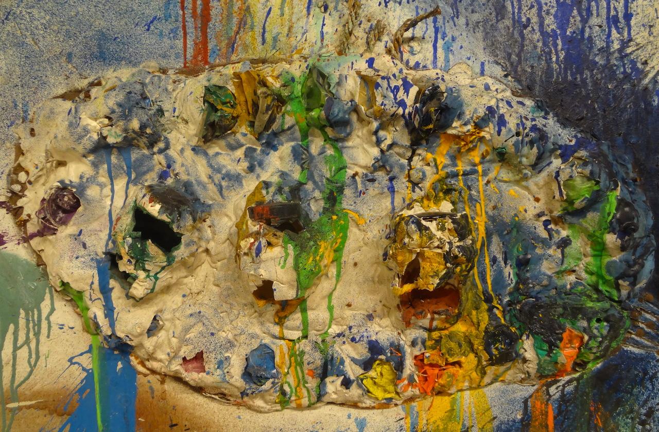 "Detail of Niki de Saint Phalle, ""Tir (Fragment de Dracula II)"" (1961)"
