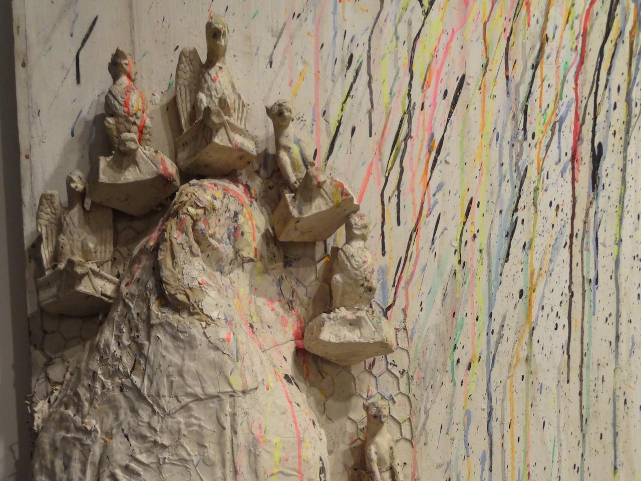 """Detail of NIki de Saint Phalle, """"Fragment de l'homme au facteur Cheval"""" (1962)"""