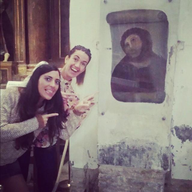 Tourists visit Beast Jesus (photo by @virmorcar/Instagram)