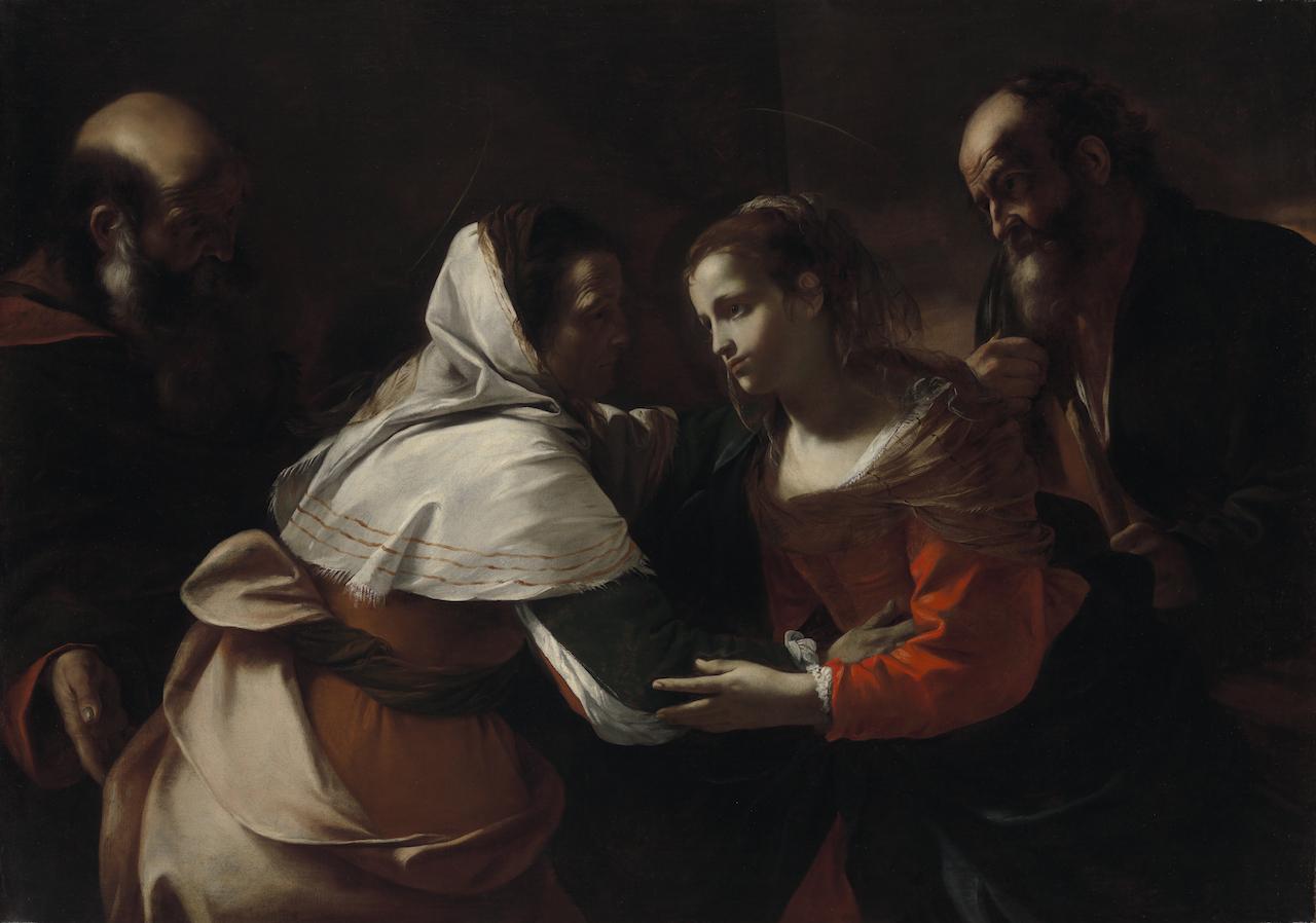 "Mattia Preti, ""The Visitation"" (1613–19), oil on canvas (courtesy the Virginia Museum of Fine Arts, Richmond; Arthur and Margaret Glasgow Endowment)"