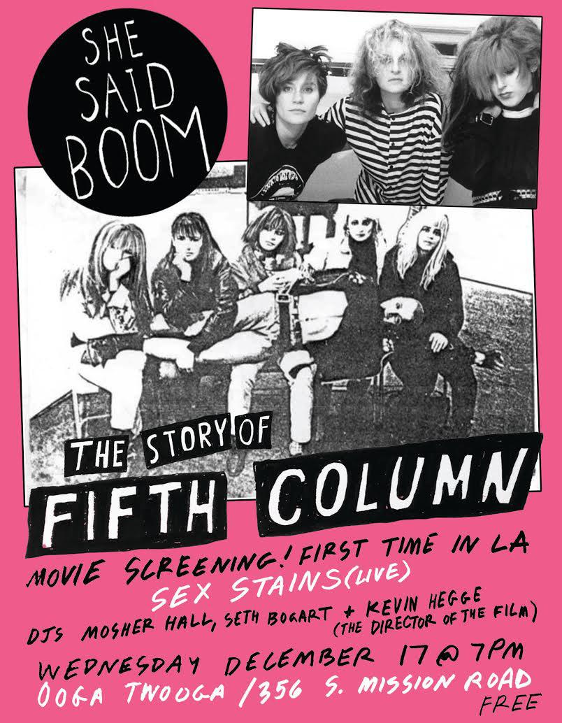 She Said Boom flyer (via 356mission.tumblr.com)