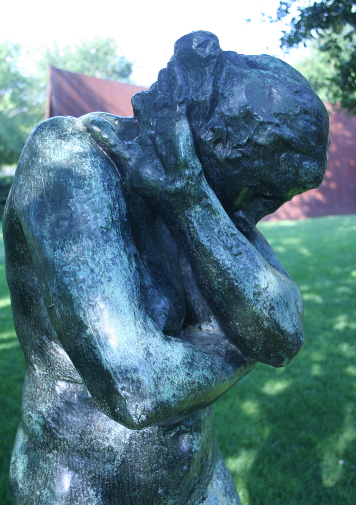 """Auguste Rodin, """"Eve"""" (1881, cast before 1932) at the Nasher Sculpture Center (photo by Alan Levine/Flickr)"""