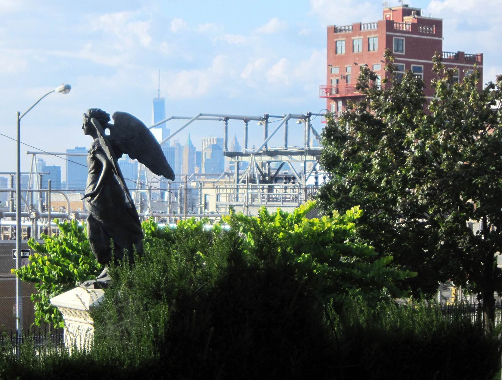 Angel in Green-Wood Cemetery, one of the sites that may be removed from Landmarks Preservation Commission consideration (all photographs by the author)