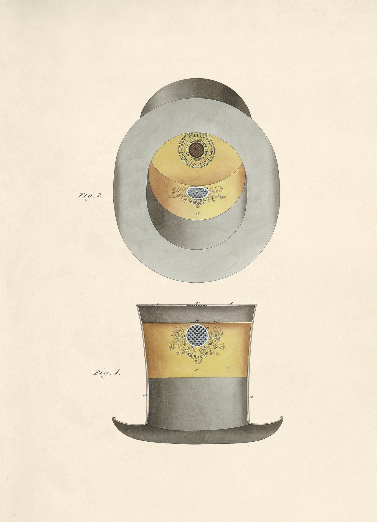 The Bonafide Ventilating Hat by John Fuller & Co, 1849 (BT 45/10) (The National Archives, London, England 2014. © 2014 Crown Copyright)