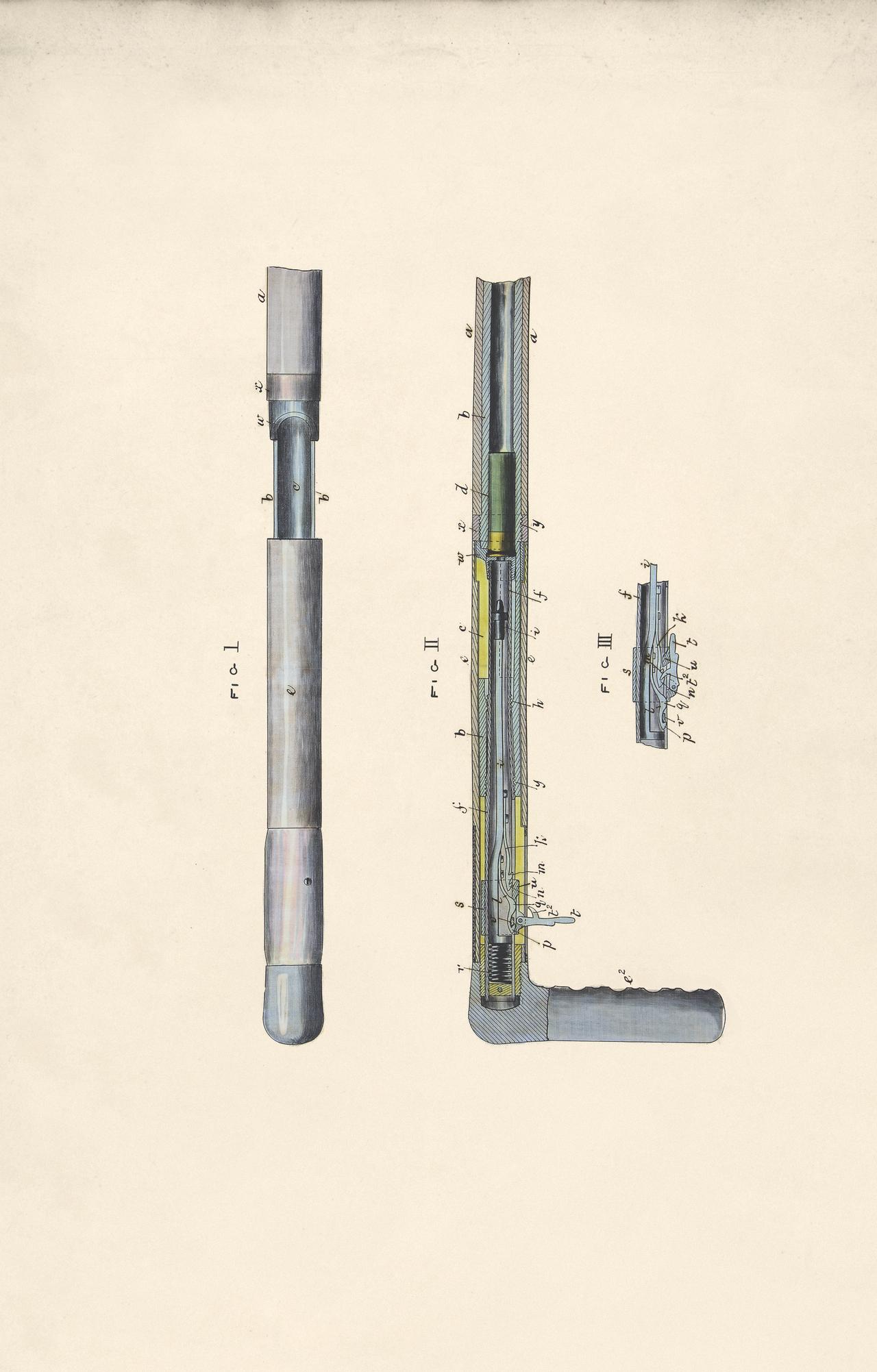 Design for a walking stick gun by John Clark Barnes, 1879 (BT 45/29) (The National Archives, London, England 2014. © 2014 Crown Copyright)