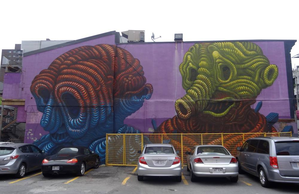 A mural by Jason Botkin in Montreal
