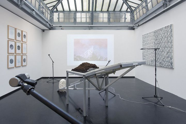 """Hike, Hack / Hic et Nunc"" (2014) at Xpo gallery, Paris. Installation view."