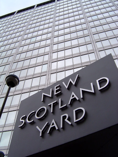 New Scotland Yard, current home of the Crime Museum (photograph by ChrisO, via Wikimedia)