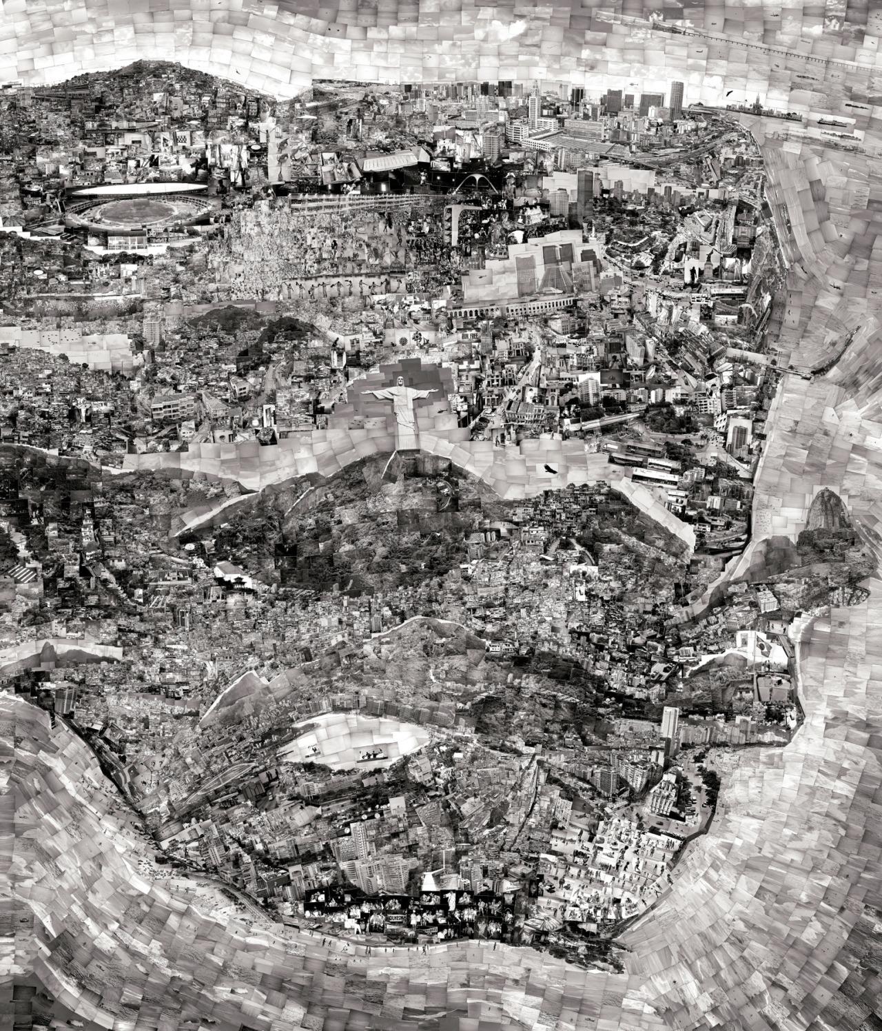 """Diorama Map Rio de Janeiro"" (2011) by Sohei Nishino (Image courtesy of Michael Hoppen Gallery)"