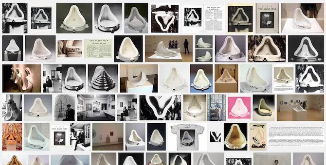 Duchamp Fountain, Google image search