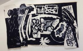 Judy Rifka in her studio, Gowanus, Brooklyn