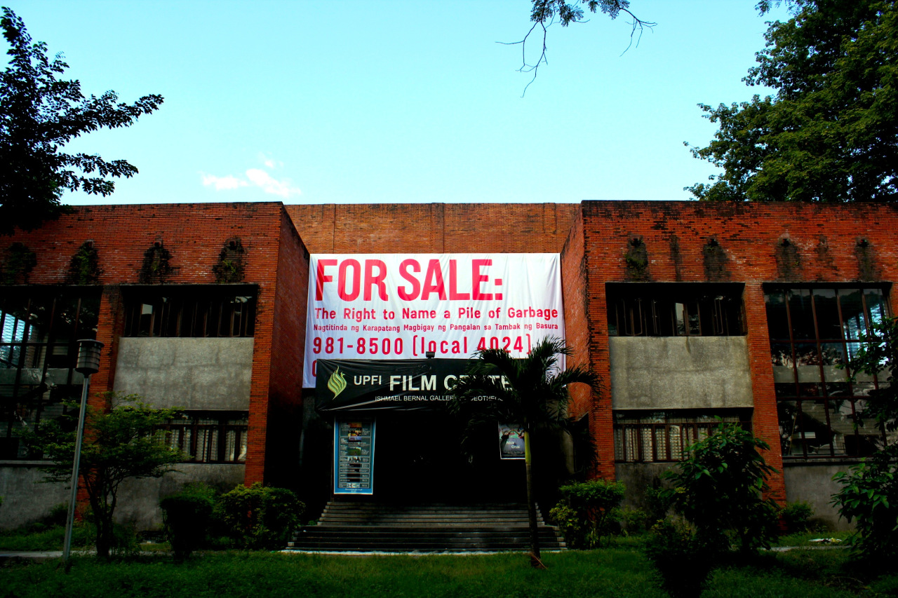 Project banner at the UPFI Film Center. Photograph courtesy the artist.