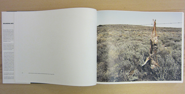 """David Goldblatt, """"Regarding Intersections"""" (photograph of the book by the author for Hyperallergic)"""
