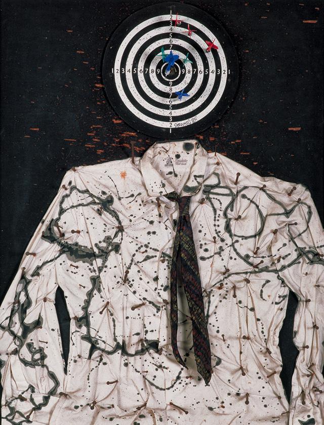 "Niki de Saint Phalle, ""Saint Sébastien (Portrait of My Lover / Portrait of My Beloved / Martyr nécessaire)"" (1961) (© 2014 Niki Charitable Art Foundation, all rights reserved; photo by Laurent Condominas)"