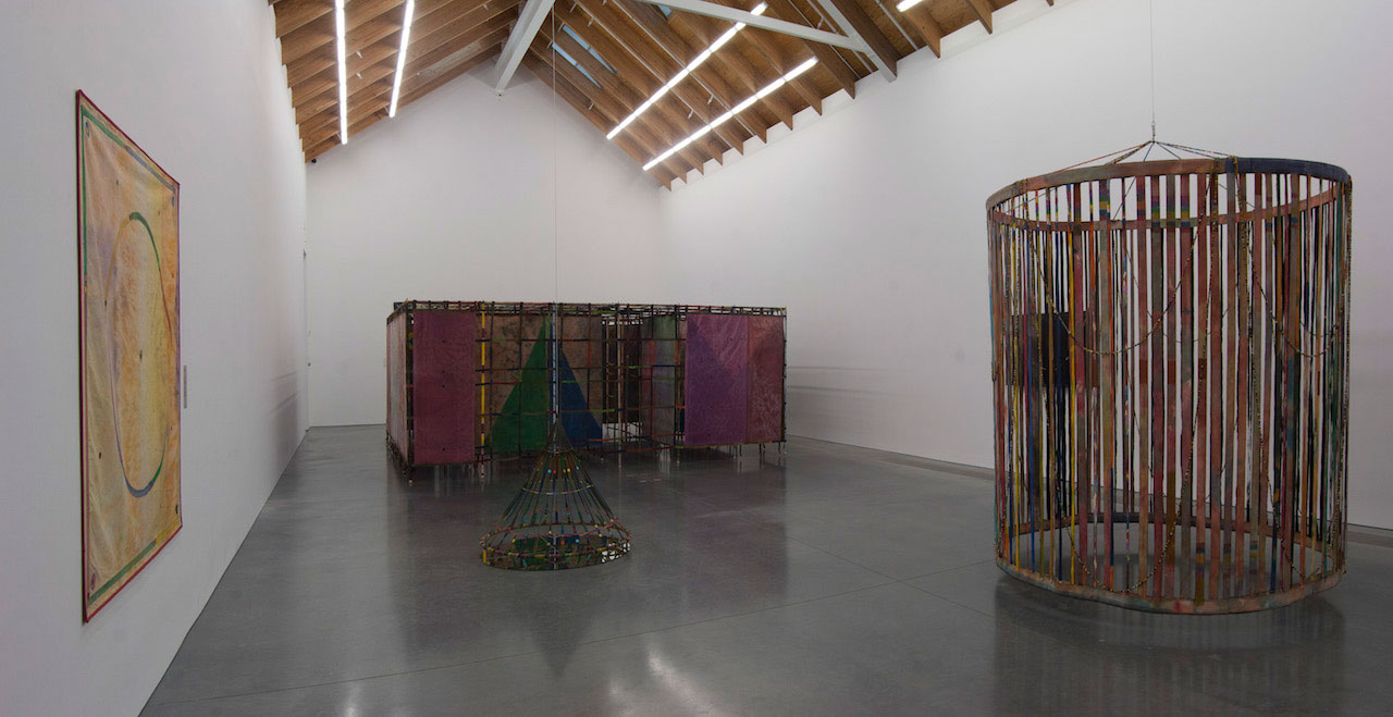 Installation view, 'Alan Shields: In Motion' at the Parrish Art Museum, Water Mill, New York, October 26, 2014 to January 19, 2015 (photo by Gary Mamay)