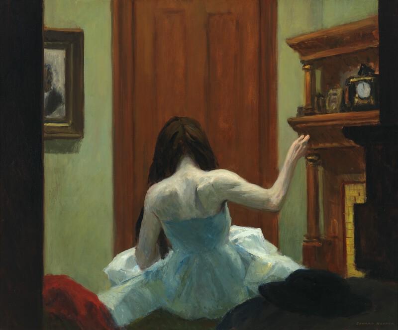 "Edward Hopper, ""New York Interior"" (1921)"