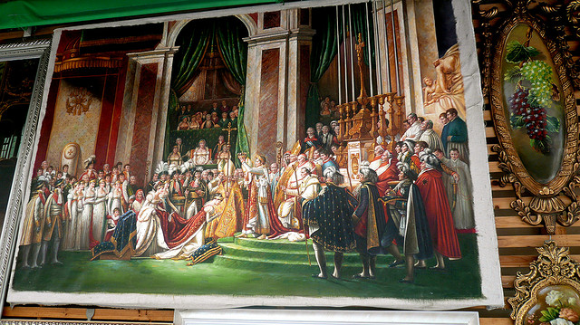 """A reproduction of Jacques-Louis David's """"Coronation of Napoleon"""" (18??) for sale in Dafen Village (photo courtesy Cory Doctorow's Flickrstream)"""