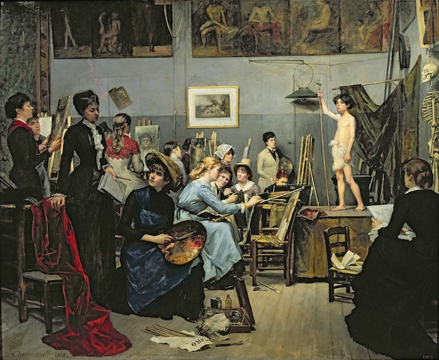 "Marie Bashkirtseff, ""In the Studio"" (1881) (Image via Wikimedia)"