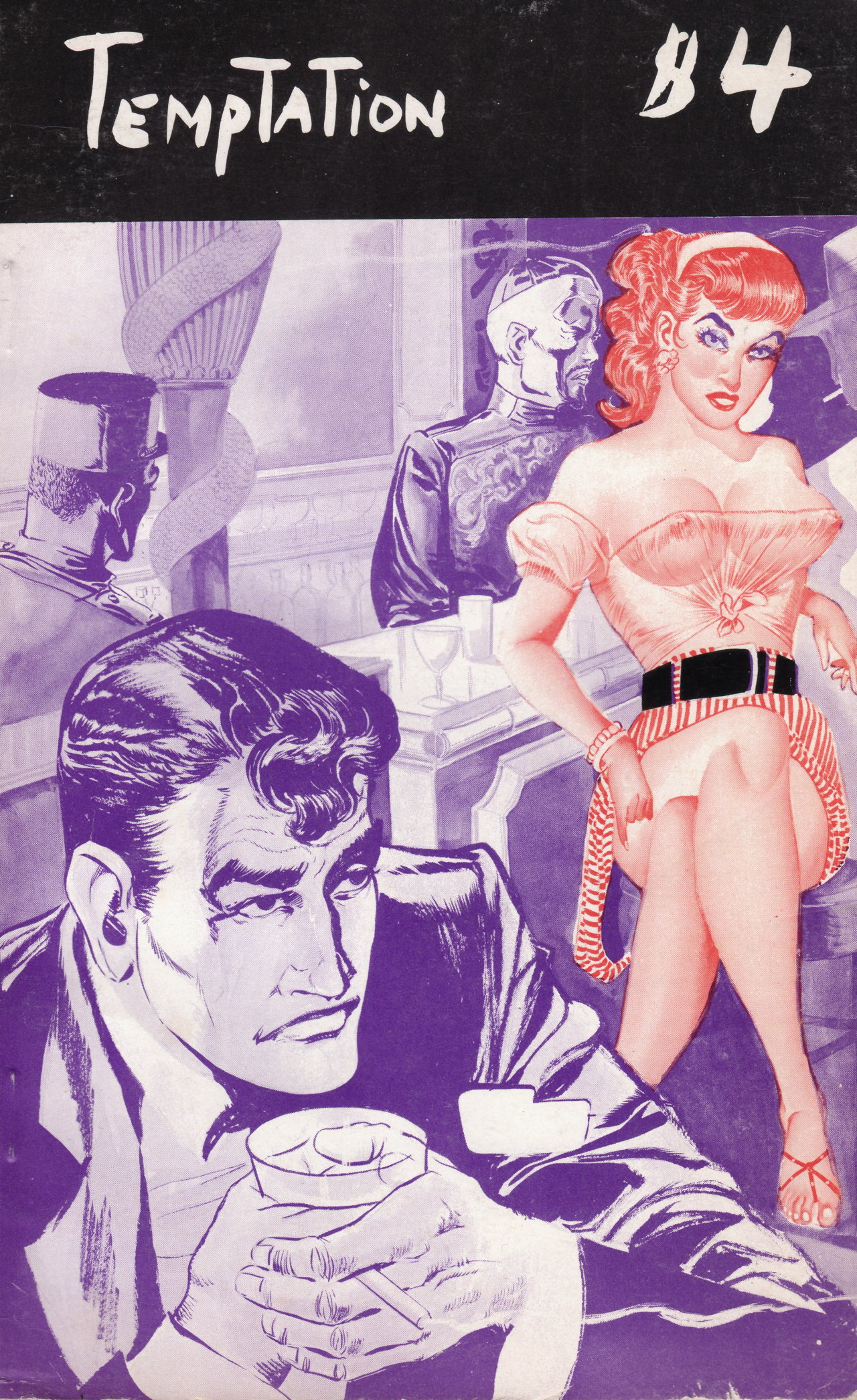Eugene Bilbrew, cover of 'Temptation' by Justin Kent (c. 1955) (all images courtesy the author)