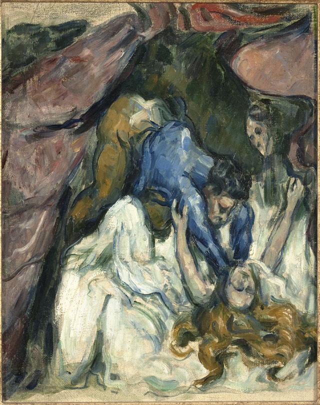 """Paul Cézanne """"La Femme étranglée"""" (1876), oil on canvas, 31.2 x 24.7 cm, Musée d'Orsay, Paris (© Musée d'Orsay, dist. RMN-Grand Palais / Patrice Schmidt)"""
