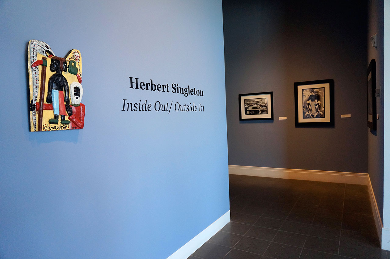 Installation view, 'Herbert Singleton: Inside Out/Outside In' at the Ogden Museum of Southern Art, as part of Prospect.3 (all photos by the author for Hyperallergic)
