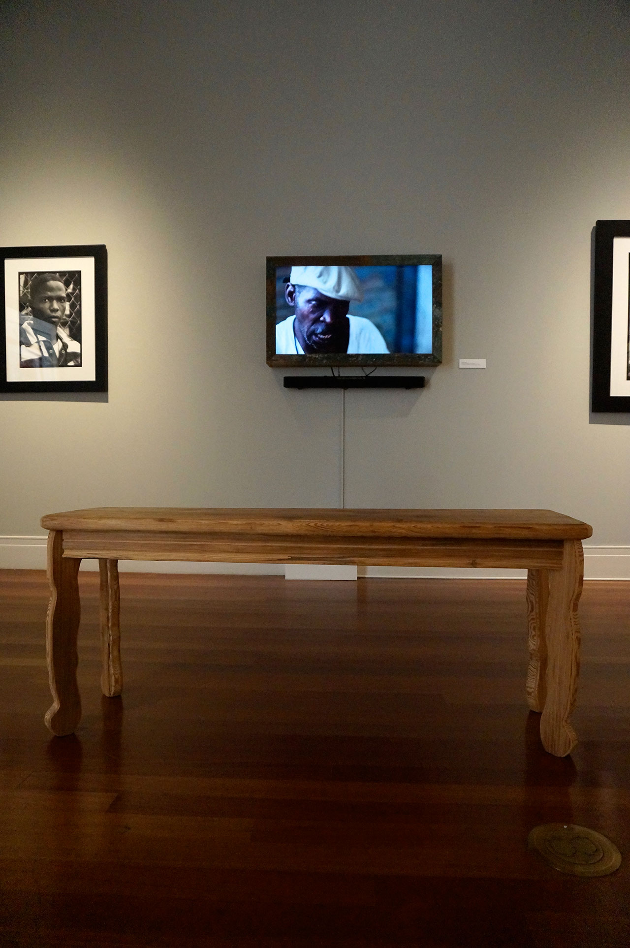 Keith Calhoun and Chandra McCormick's video of Henry James, with James's bench in the foreground (click to enlarge)