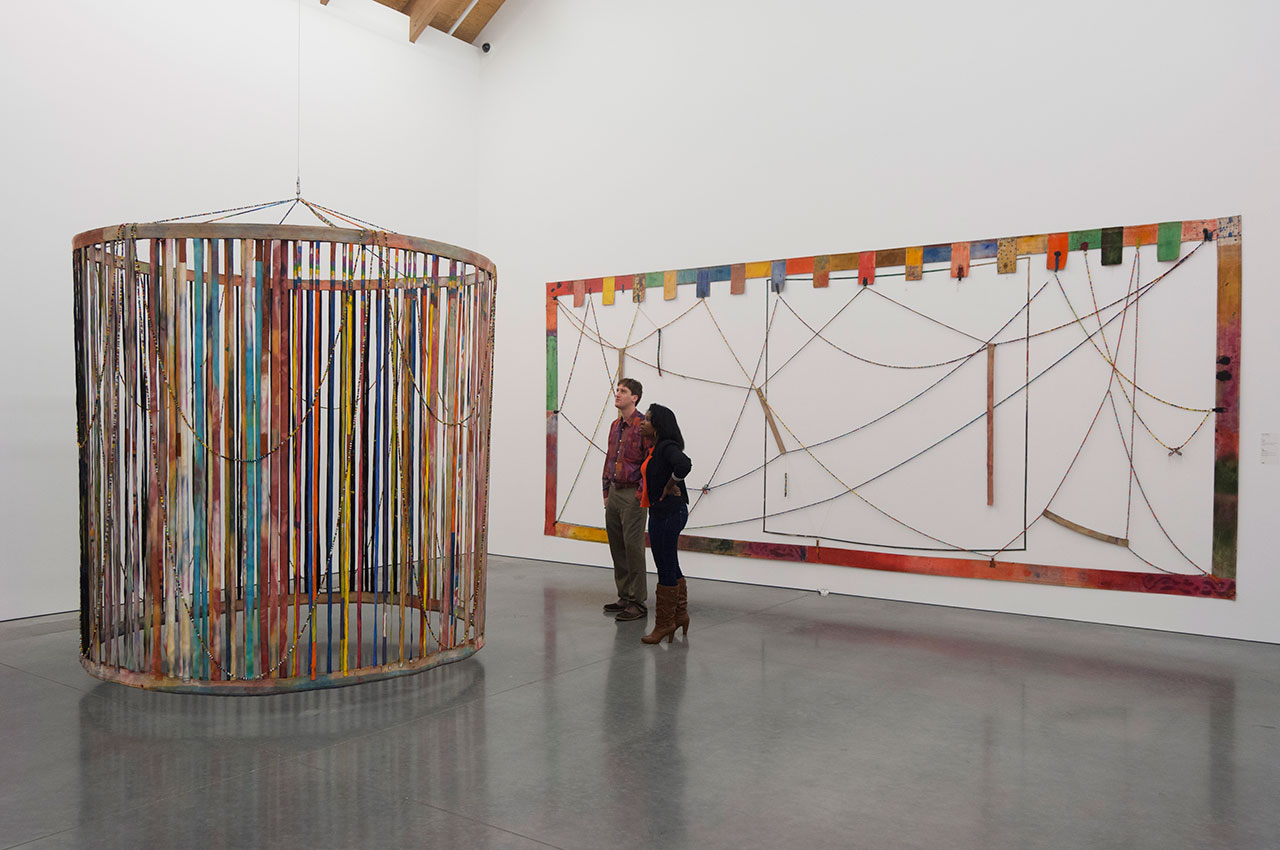 Installation view, 'Alan Shields: In Motion' at the Parrish Art Museum (photo by Gary Mamay)