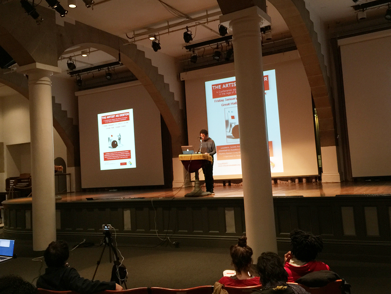 Coco Fusco introducing the conference (all photos by Hyperallergic staff for Hyperallergic)
