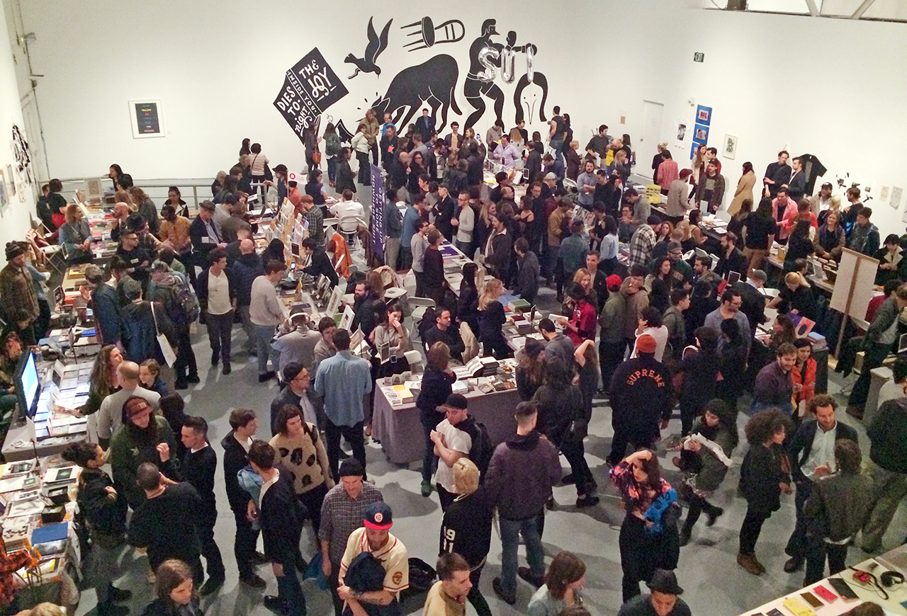 A view of the 2014 LA Art Book Fair (photo by the author for Hyperallergic)