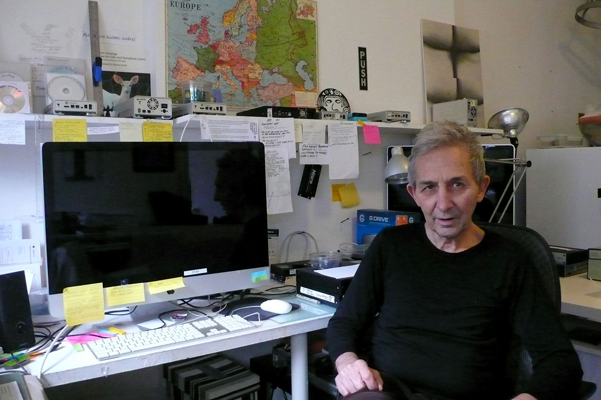 Film-maker Jeffrey Perkins at his studio in New York, December 2014 (photo by Edward M. Gómez for Hyperallergic)