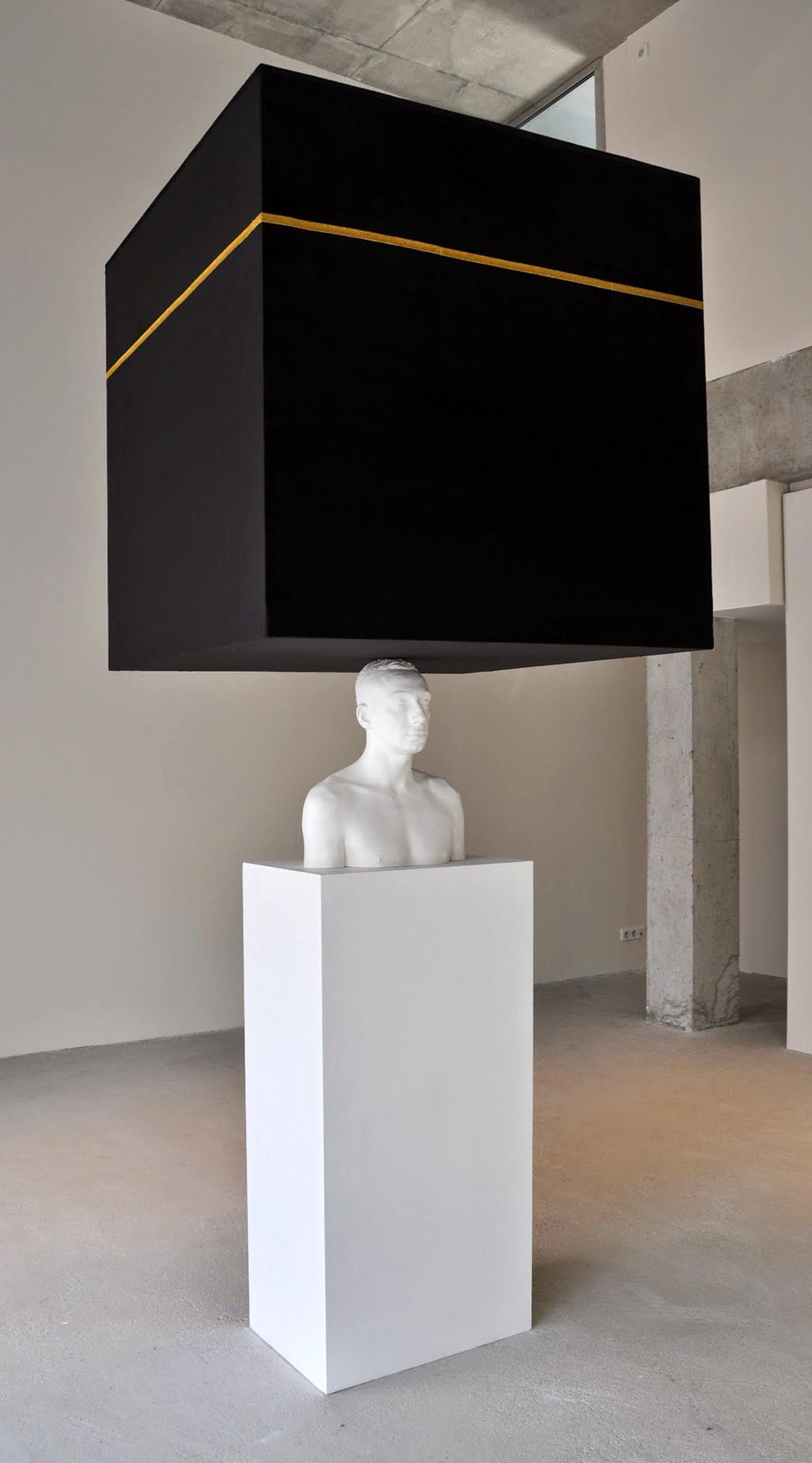 """Mehdi Georges Lahlou's """"Equilibre à la Kaaba"""" (2013) (all images courtesy Institut du Monde Arabe)"""