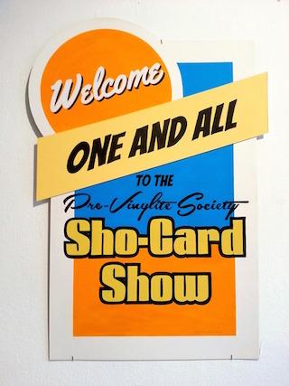 A show card by artist Rodney Vicik (via Calico Brooklyn)