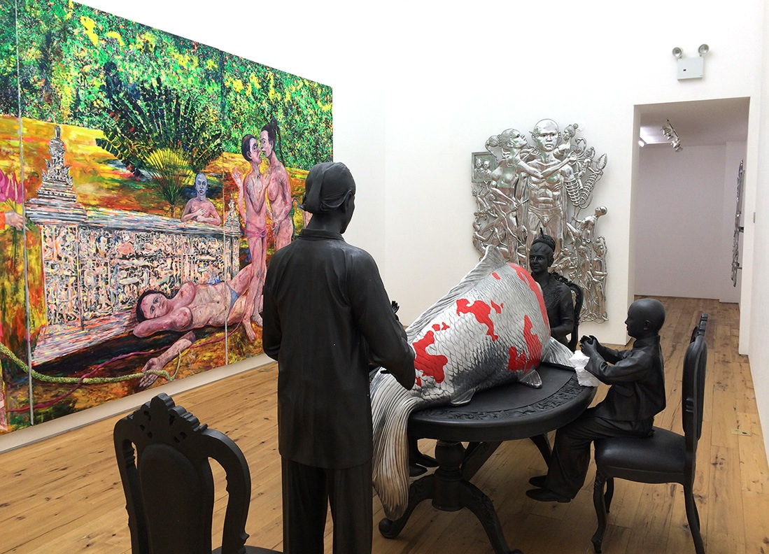 Installation view, 'Entang Wiharso' at Marc Straus (all images courtesy Marc Straus)