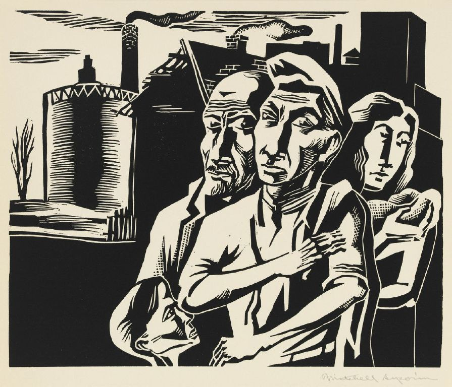 """Werner Drewes, """"Old Scarecrow––Hitler as Scarecrow"""" (1943)"""