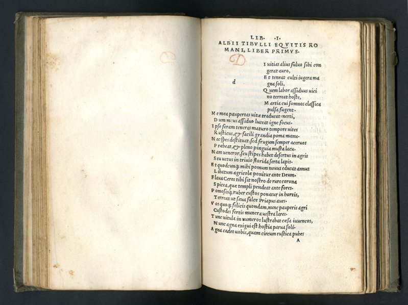 Catullus, Tibullus, Propertius (pirate edition from Lyon) (courtesy Bodleian Libraries, University of Oxford)
