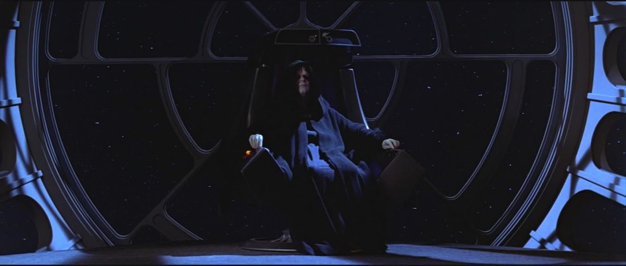 Emperor Palpatine on his throne (via boards.theforce.net)