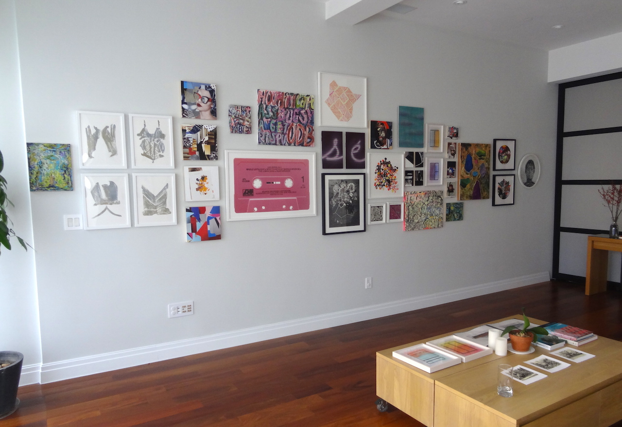 "Installation view of ""Contemporaries"" at Ernest Newman Contemporary (all photos by the author for Hyperallergic)"
