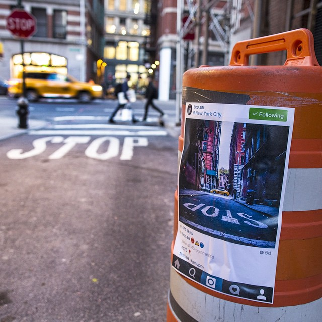 Instagram Photos Reappear on the Streets Where They Were Taken