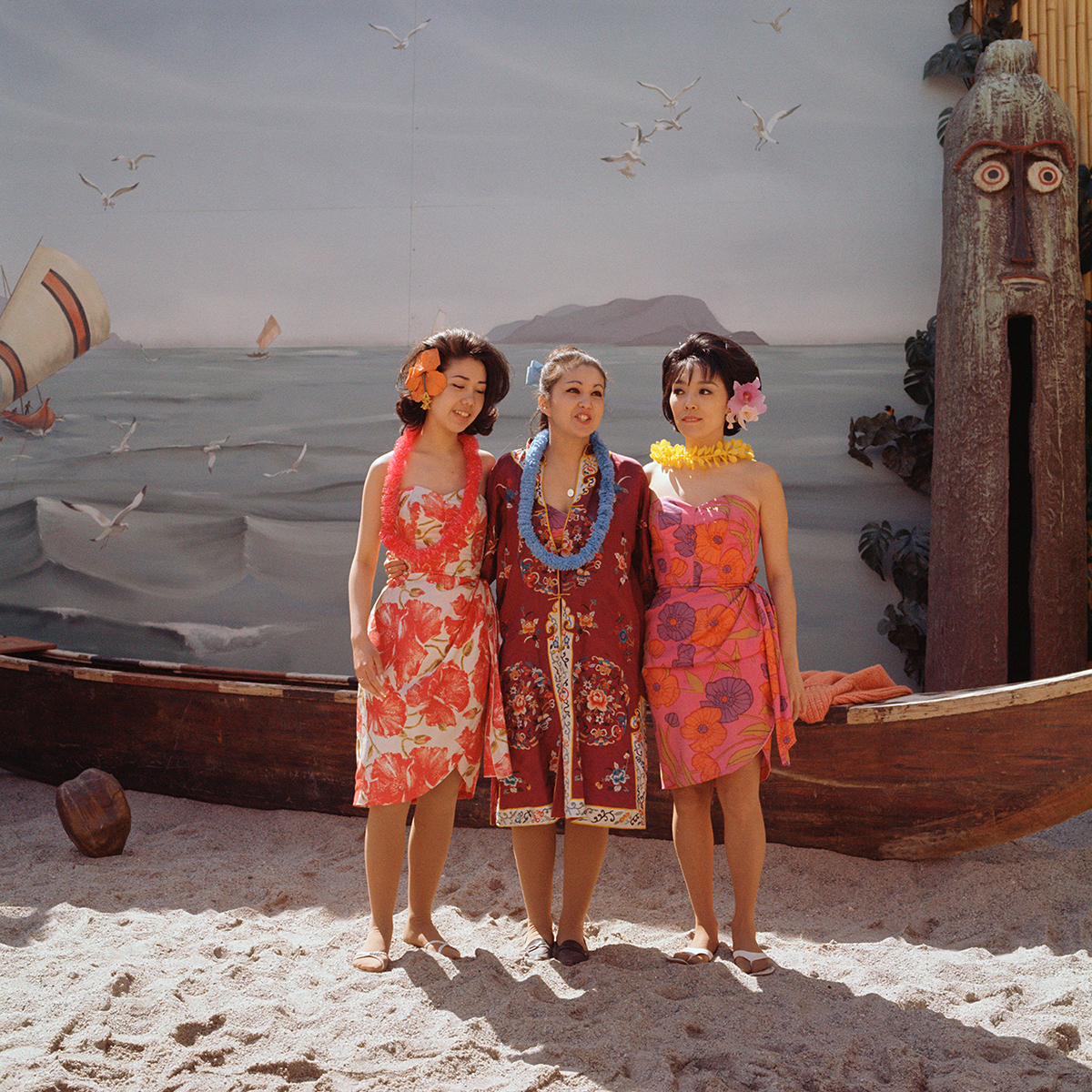 Jerry Kean (Gerald J. Kwapich Kean)   Toledo, Ohio – Sunnyside, New York, 1937- 2014 Collection of the Queens Museum; gift of Jerry Kean Hula Girls at Aloha Theater, Hawaii Pavilion, 1964