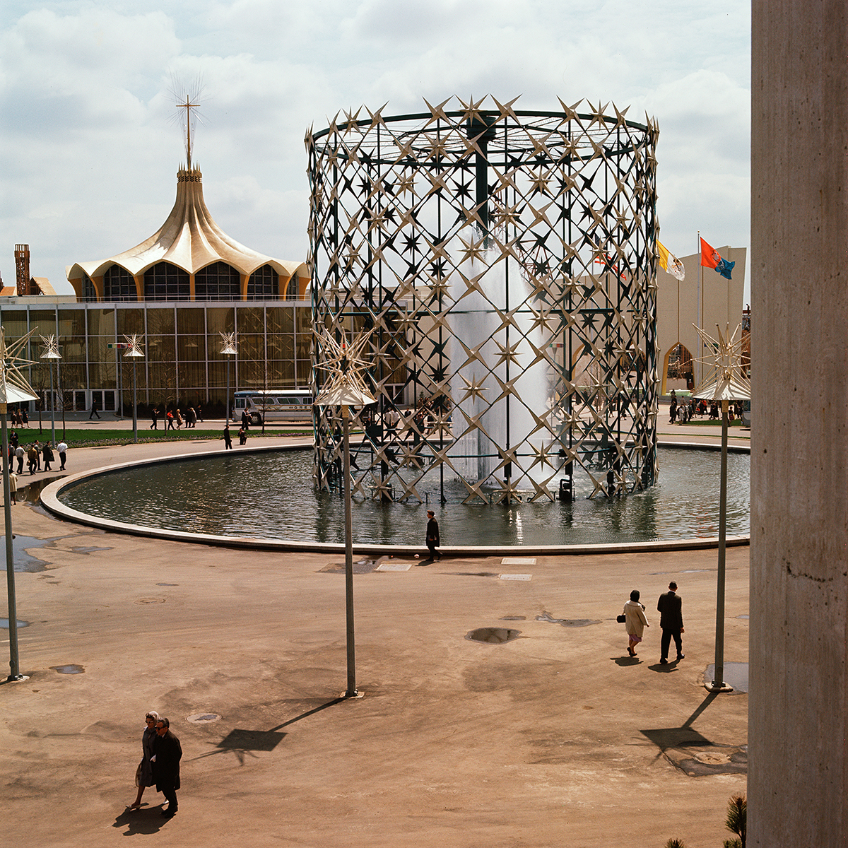 Van Williams American, dates unknown Digital prints from scanned original Ektachrome film Astral Fountain and Vatican Pavilion, 1964