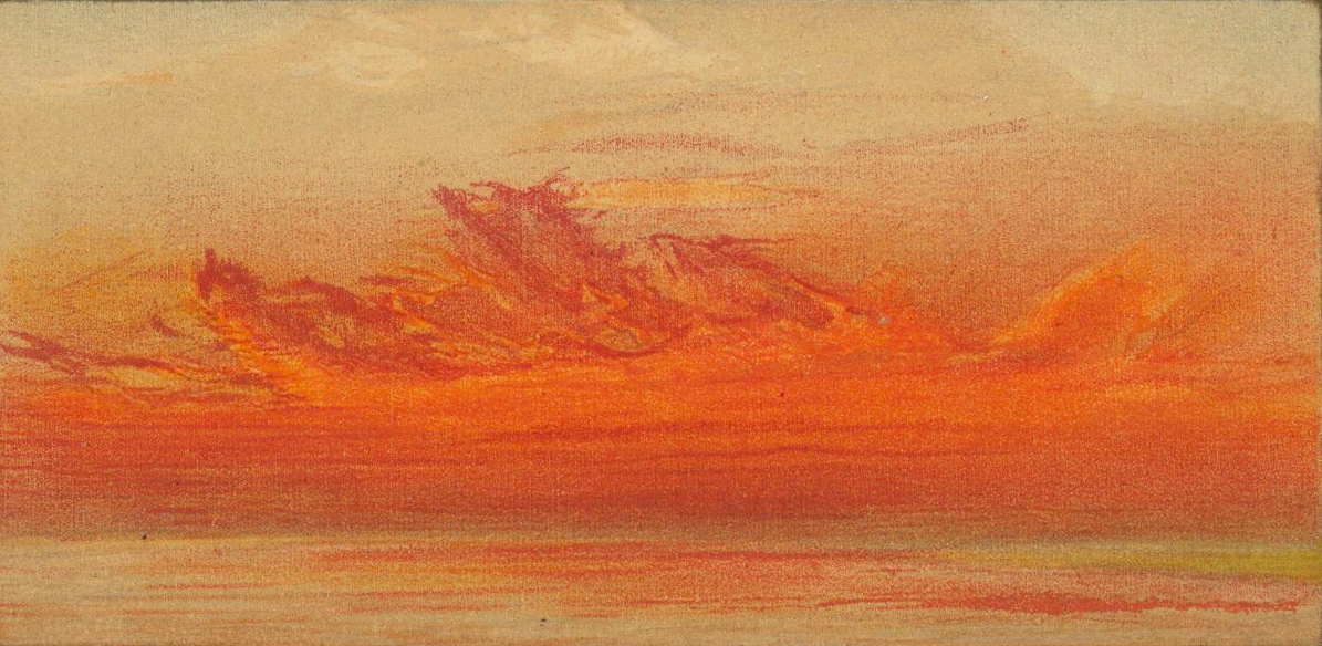 """Illustration by William Ascroft from """"The eruption of Krakatoa, and subsequent phenomena"""" (1888) (via Houghton Library at Harvard University)"""