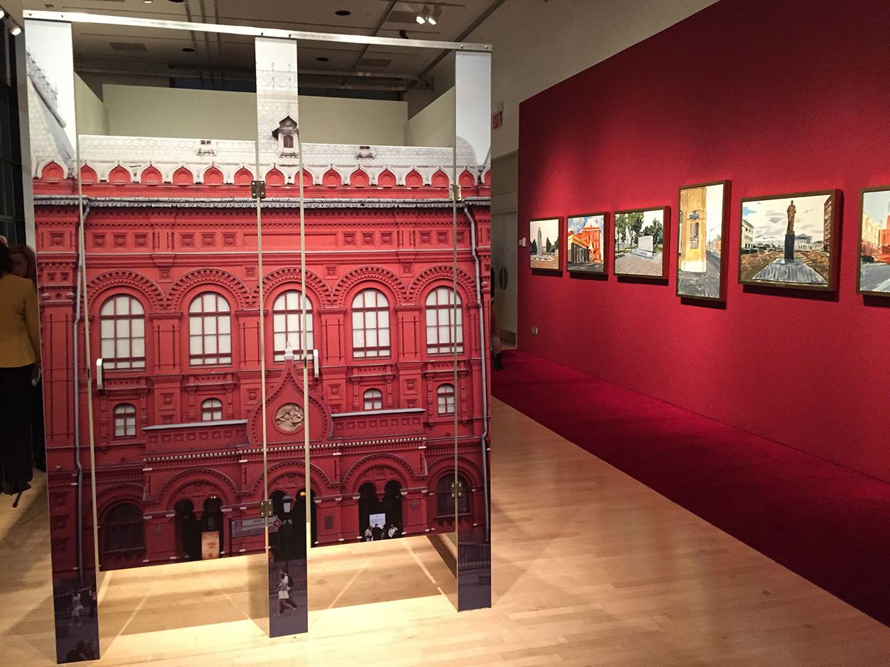 A view of Yevginey Fiks's Lenin Museum exhibition at CUNY Graduate Center (photo by the author for Hyperallergic)